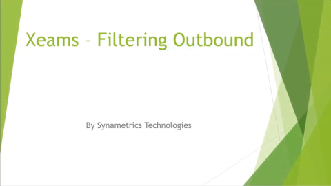 xeams outbound filtering video